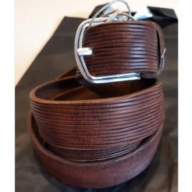 Cintura in cuoio laserata