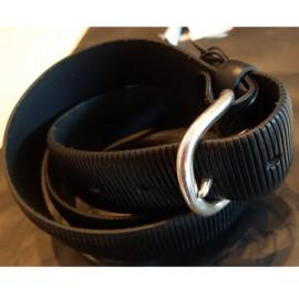 Cintura in pelle laserata nera