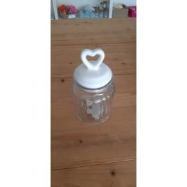 vasetto in vetro con chiusura ermetica