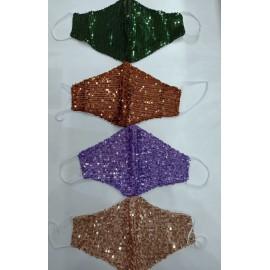 Mascherine con paillettes colorati