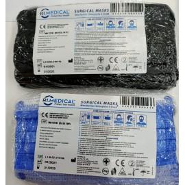 Pacchetto Mascherine chirurgiche blu e nero